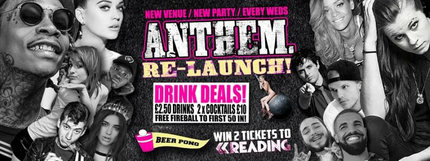 Anthem Re-Launch at The Borderline! – Weds 23rdMay